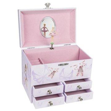 Goki - Pozytywka z czterema szufladami i baleriną