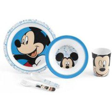 Lulabi - Zestaw Naczyń dla Dziecka, Myszka Mickey, 4m+