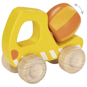 Goki® - Drewniana zabawka na kółkach Betoniarka Goki