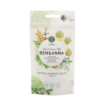 BEN and ANNA, Naturalny szampon w tabletkach, tonic, 120 g Ben and Anna