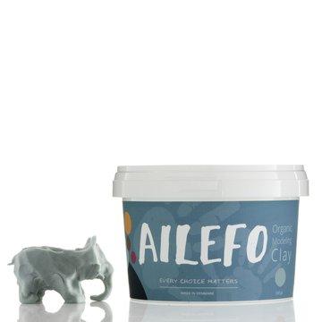 Ailefo, Organiczna Ciastolina, duże opakowanie, niebieski, 540g AILEFO