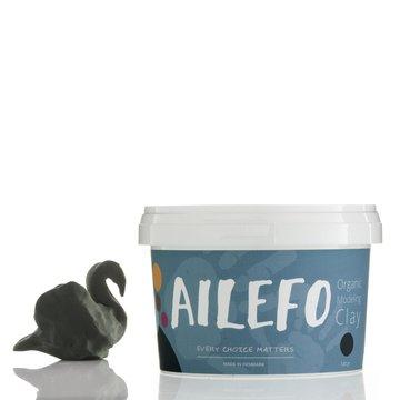 Ailefo, Organiczna Ciastolina, duże opakowanie, zieleń, 540g AILEFO