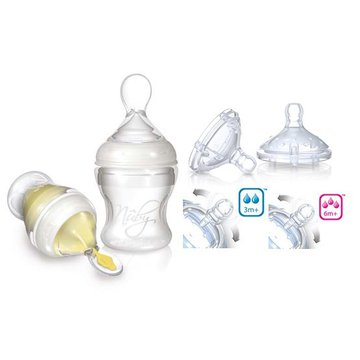 Nuby - Zestaw do karmienia Infafeeder + smoczki na butelkę