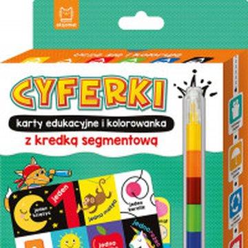 Aksjomat - Cyferki. Karty edukacyjne i kolorowanka z kredką segmentową. Uczę się i koloruję 5+