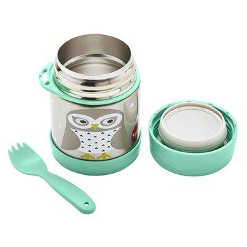 3 Sprouts Termos dla Dzieci Sowa Mint