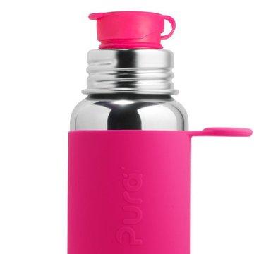Butelka stalowa Big Mouth® Sport 550 ml, różowa, Pura
