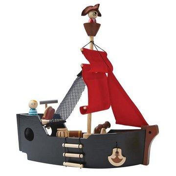LEKKO USZKODZONE OPAKOWANIE Statek piracki, Plan Toys