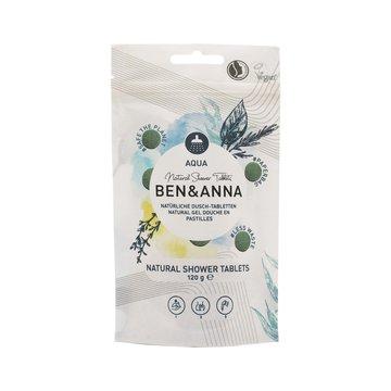 BEN and ANNA, Naturalne tabletki do mycia ciała, aqua, 120 g Ben and Anna