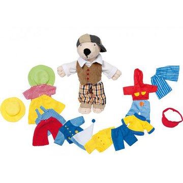 Goki® - Przebieranka pluszowy miś z ubrankami, Goki 51798