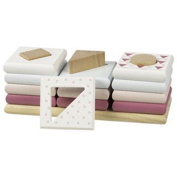 Układanka kształty na palikach Goki Lifestyle różowa