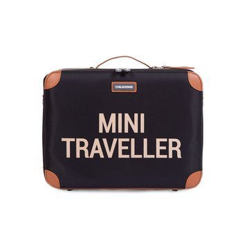 Childhome Walizka dziecięca Mini Traveller Czarno-Złota CHILDHOME