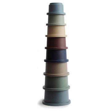Mushie - Stacking Tower FOREST - wieża z kubeczków mushie