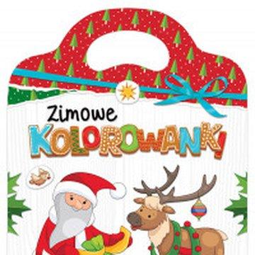 Aksjomat - Zimowe kolorowanki. Książeczka z naklejkami