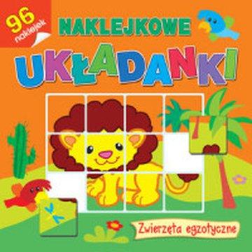 Olesiejuk Sp. z o.o. - Naklejkowe układanki. Zwierzęta egzotyczne