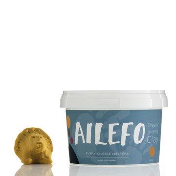 Ailefo, Organiczna Ciastolina, duże opakowanie, żółty, 540g AILEFO