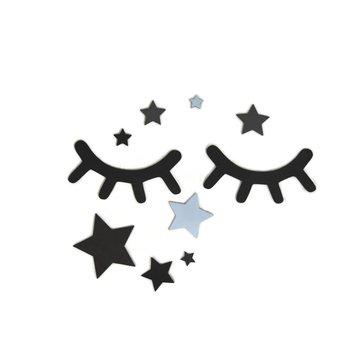 AdamToys - Oczka z niebieskimi gwiazdkami