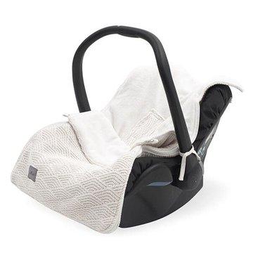 Jollein - Baby & Kids - Jollein - Śpiworek oddychający do wózka i fotelika River Knit CREAM WHITE