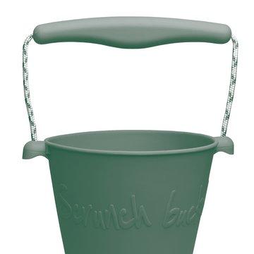 Funkit world - Składane wiaderko do wody i piasku Scrunch Bucket - Ciemny zielony
