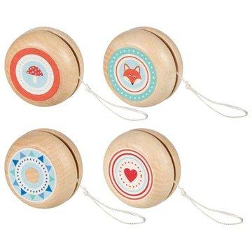 Goki® - Drewniane Yo-Yo ze zwierzętami Goki