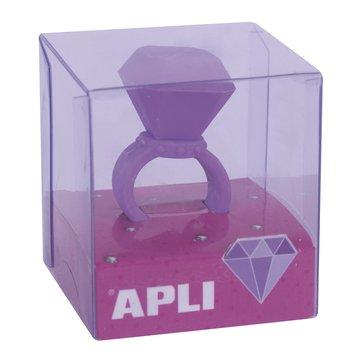 Gumka do ścierania pierścionek Apli Kids - Fioletowa