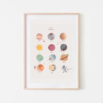 Mushie - Plakat Planety Medium mushie