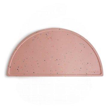 Mushie - Podkładka silikonowa na stół Powder Pink Confetti mushie
