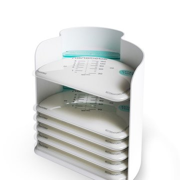 Nanobebe - Torebki do przechowywania mleka matki/pokarmu - 25 szt. + organizer