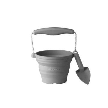 Funkit world - Silikonowe Wiaderko z łopatką Scrunch - Ciemny Szary