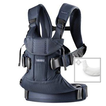 BABYBJORN ONE AIR - nosidełko, Granatowy + śliniaczek do nosidełka ergonomicznego One