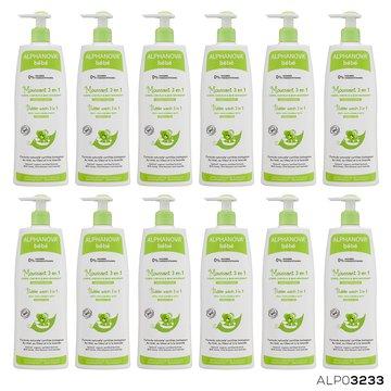 Alphanova Bebe, Organiczny Płyn do Kąpieli dla dzieci 3 w 1, 500 ml, KARTON, 12 szt. ALPHANOVA BEBE