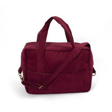 Filibabba Torba Nursing bag Sztruks Deeply Red FILIBABBA