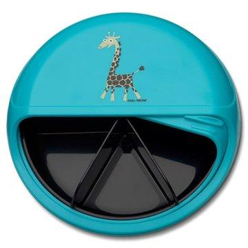 Carl Oscar BIG SnackDISC™ 5 komorowy obrotowy pojemnik na przekąski Tourquise - Giraffe CARL OSCAR