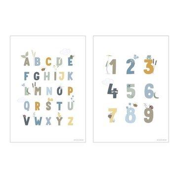 Little Dutch Plakat A3 - Alfabet Gąski Błękit PW10720740