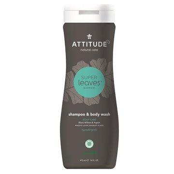 Attitude, MEN, Szampon i żel do mycia ciała 2 w 1, SCALP CARE MEN, 473 ml ATTITUDE