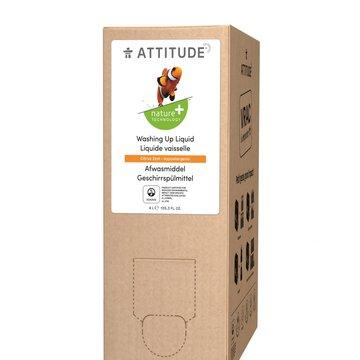Attitude, Płyn do mycia naczyń, Skórka Cytrynowa (Citrus Zest), 4L, 160 prań ATTITUDE