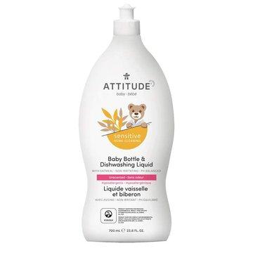 Attitude, Sensitive Skin Baby, Naturalny płyn do mycia butelek i naczyń dla niemowląt, 700 ml ATTITUDE