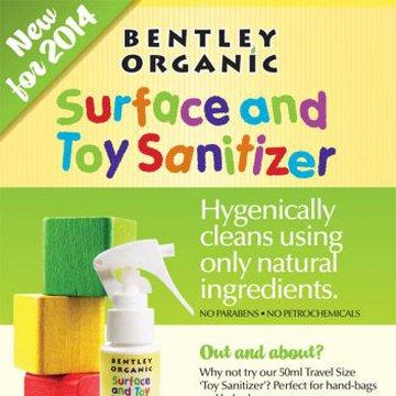 Bentley Organic, Dziecięcy Spray Dezynfekujący do Mycia Zabawek MINI 50ml BENTLEY ORGANIC