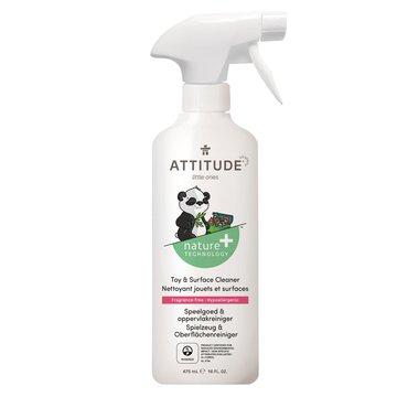 Attitude, Płyn do mycia zabawek i powierzchni w pokoju dziecka Bezzapachowy (fragrance free) 475 ml ATTITUDE