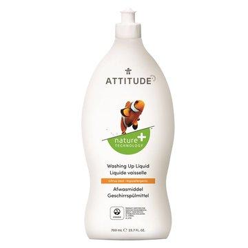 Attitude, Płyn do mycia naczyń, Skórka Cytrynowa (Citrus Zest), 700 ml ATTITUDE
