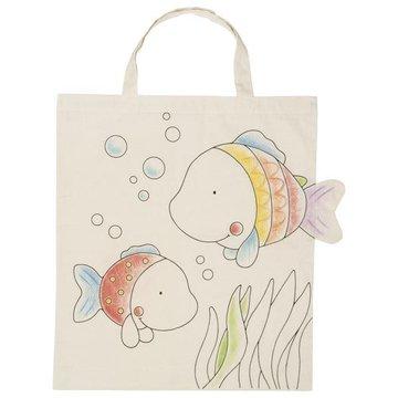 Goki® - Bawełniana torba z rybkami do kolorowania, Goki