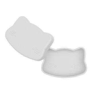 Zamykany silikonowy pojemnik Kotek We Might Be Tiny - Light Grey