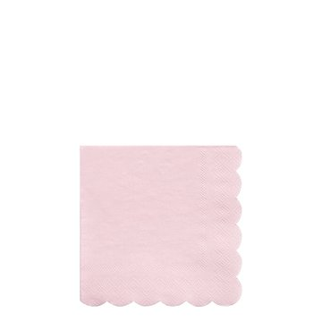 Meri Meri - Małe serwetki Simply Eco Pudrowy róż