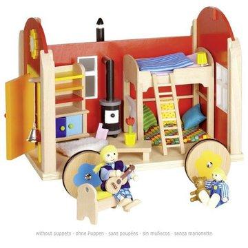 Goki® - Domek dla lalek na kółkach