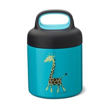Carl Oscar TEMP Lunch Jar - Termos ze szlachetnej stali nierdzewnej Turquoise - Giraffe CARL OSCAR