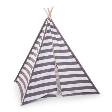 CHILDHOME - Namiot Tipi Grey/White Stripes