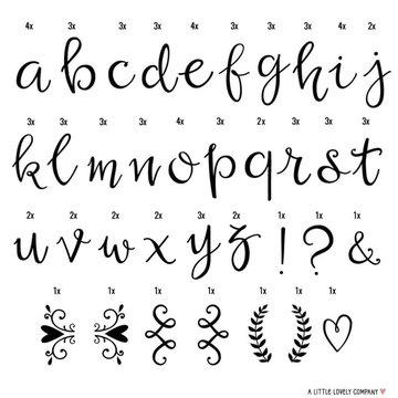 A Little Lovely Company - Litery do Lightboxa zestaw Script