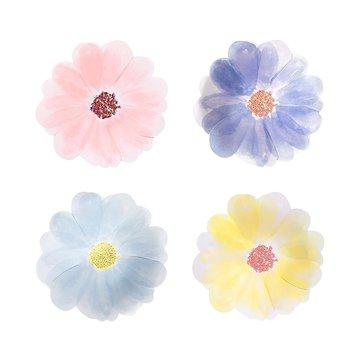 Meri Meri - Małe talerzyki Kwiaty ogrodowe