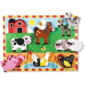 Melissa&Doug® - Melissa and Doug Drewniane Puzzle Farma