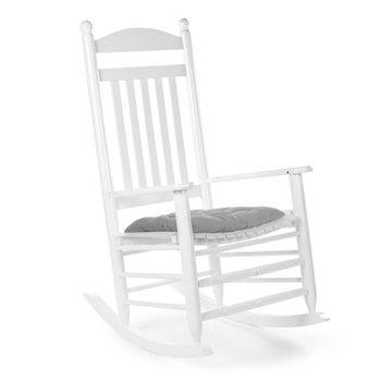 CHILDHOME - Krzesełko bujane LUX lakierowane białe + poduszka