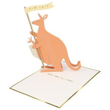Meri Meri - producent niezdefiniowany - Kartka okolicznościowa 3D Kangur